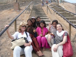 Yvonne and Jacqueline on a trip with Odanadi residents